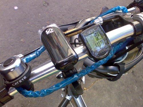 Minggu lalu Jildhan-29 juga bersolek, nambah lampu mata kucing yang 'byar pet byar pet' terang banget ..plus speedometer!