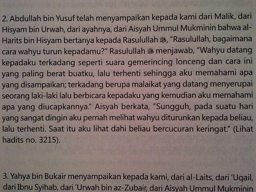 Sumber: Shahih Bukhari 1 - Kitab Permulaan Wahyu hal. 1