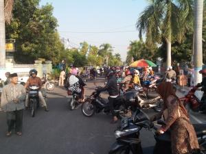 Suasana Jl. Sumatera saat bubaran PAP ...