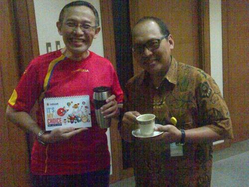 Bersama Erwin Prayudi, sahabat liqo Indosat