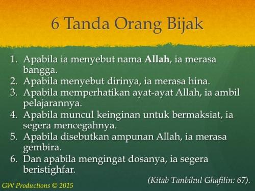 6 Tanda Orang Bijak