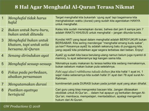 8 Hal Agar Menghafal Al-Quran Nikmat