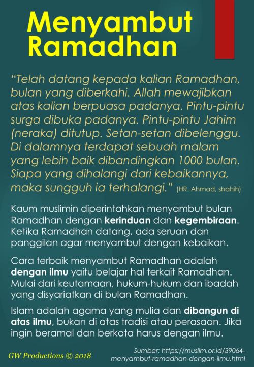 Menyambut Ramadhan dengan Ilmu