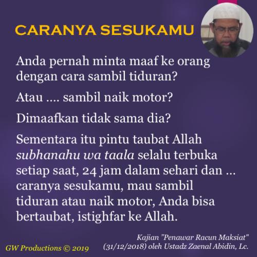 Bertaubat segera - Zaenal Abidin 3Jan2019