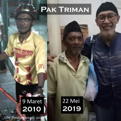 Pak Triman 2010 vs 2019 22Mei2019